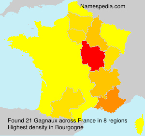 Familiennamen Gagnaux - France