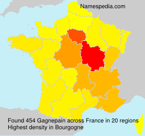 Surname Gagnepain in France