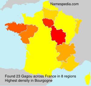 Surname Gagou in France