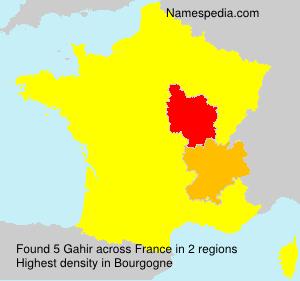 Familiennamen Gahir - France