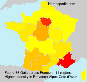 Surname Gaia in France