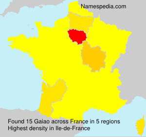 Surname Gaiao in France