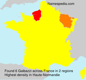 Surname Gaibazzi in France