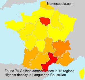 Surname Gailhac in France