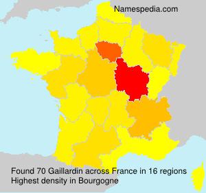 Surname Gaillardin in France