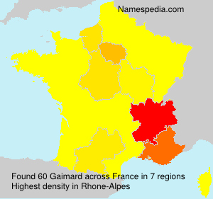 Surname Gaimard in France