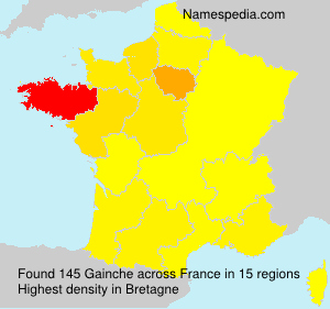 Surname Gainche in France