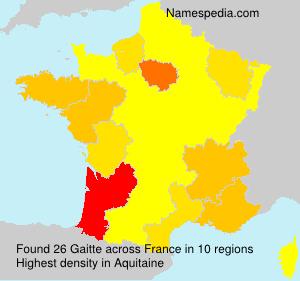 Familiennamen Gaitte - France