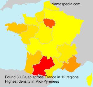 Surname Gajan in France