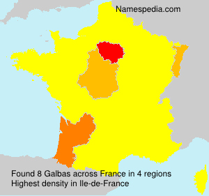 Surname Galbas in France