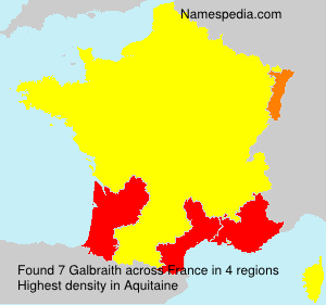 Surname Galbraith in France