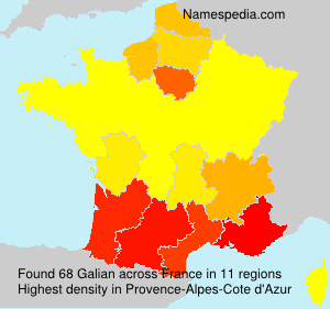 Surname Galian in France