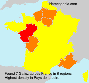 Surname Galicz in France