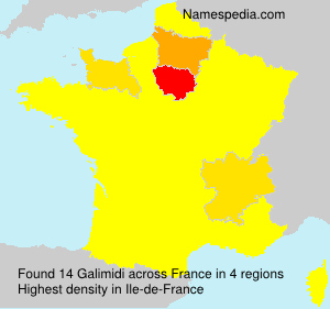 Surname Galimidi in France