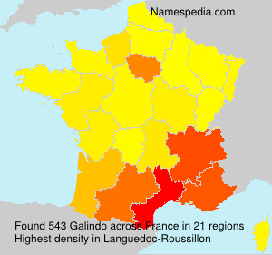 Surname Galindo in France