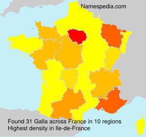 Surname Galla in France