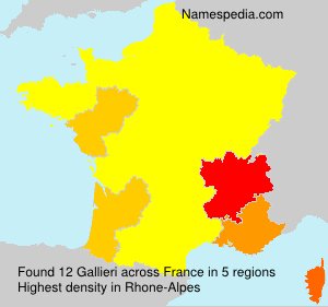 Surname Gallieri in France