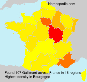 Surname Gallimard in France