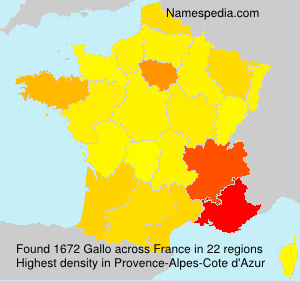 Surname Gallo in France