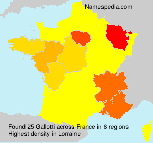 Surname Gallotti in France