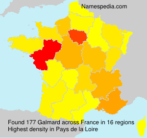 Surname Galmard in France