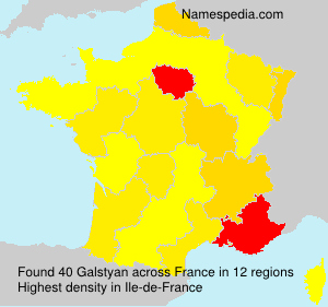 Surname Galstyan in France
