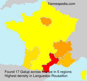 Surname Galup in France