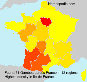Surname Gamboa in France