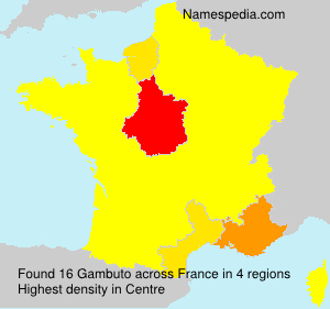 Surname Gambuto in France