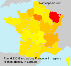 Surname Gand in France