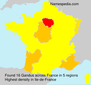 Surname Gandus in France