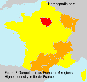 Surname Gangolf in France