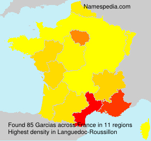 Surname Garcias in France