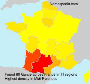 Surname Garcie in France
