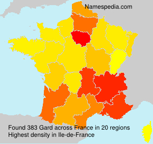 Surname Gard in France