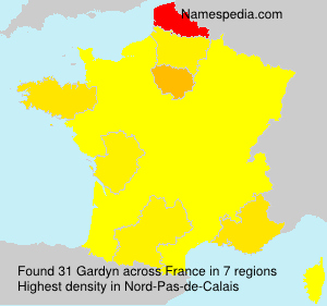 Surname Gardyn in France