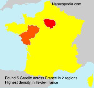 Surname Garelle in France