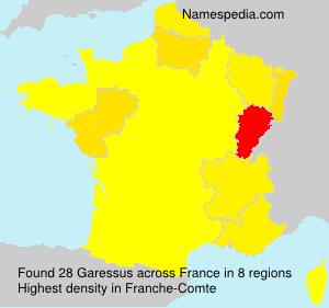 Surname Garessus in France