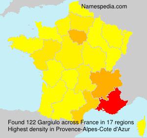 Surname Gargiulo in France