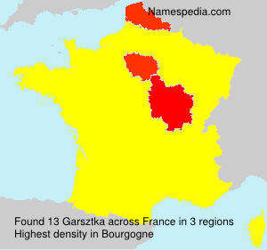 Surname Garsztka in France