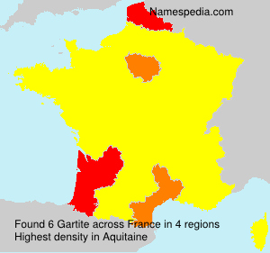 Surname Gartite in France