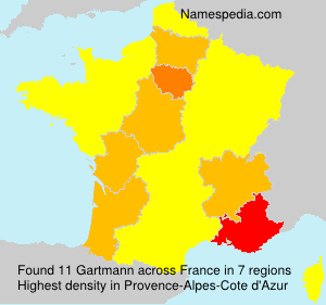 Surname Gartmann in France