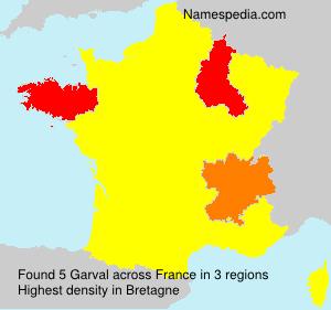 Familiennamen Garval - France