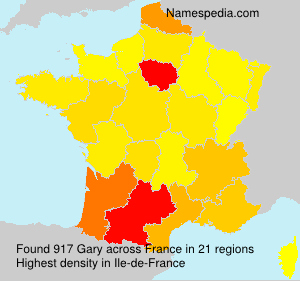 Surname Gary in France