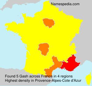 Surname Gash in France