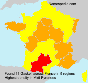 Surname Gaskell in France