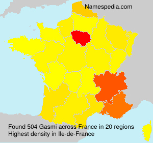 Surname Gasmi in France