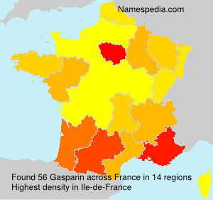 Familiennamen Gasparin - France