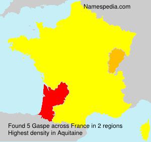 Surname Gaspe in France