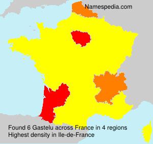 Surname Gastelu in France